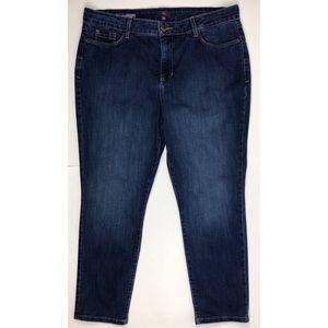 NYDJ Women's Blue Clarissa Ankle Jeans